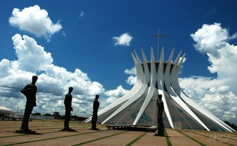 Cathedral of Brasilia by Oscar Niemeyer