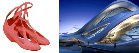 Melissa shoe design; Abu Dhabi Performing Arts Centre