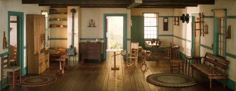 shaker living room c. 1800, 1940