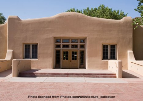 Adobe House with Parapet